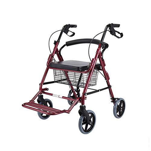 III- Carex stalen rollator Walker met zitting en wielen, inclusief rugsteun, rollator voor senioren en degenen die hulp nodig hebben lopen