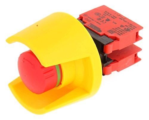 Schlegel 23.001.574 Not-Aus-Taste mit Schutzkragen, Kontaktgeber und 2 Öffner inklusive Modulhalter