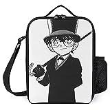 Detective ConanPortable Bolsa de almuerzo aislada y almacenamiento en frío, gran capacidad, ideal para la escuela/el trabajo/picnic