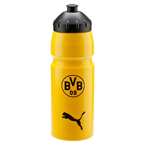 PUMA Trinkflasche BVB Waterbottle Plastic, cyber yellow-Black, UA