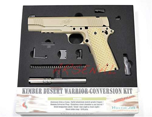[メーカー生産中止 在庫のみ] HurricanE M1911 Kimber Desert Warrior デザート ウォリアー 東京マルイ ガスブローバック ハンドガン コンバージョン キット CONVERSION kit/マルイ コンバージョン キンバー グリップ メタルスライド メタルフレーム KIMBER/MEU-02