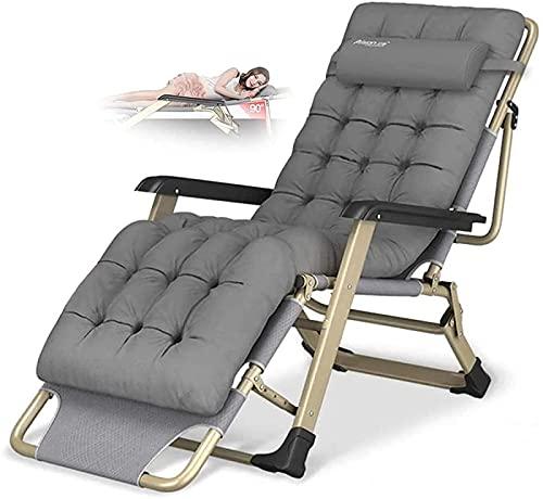 Balscw Liegestuhl Klappbarer Zero Gravity Lounge Chair Oversize XL, Liegestühle Baumwollkissen für Garten Außenterrasse Sonnenliegen Bett Liege Bis zu 300 Kg