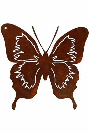 Rouille noble Papillon Piquet Déco rouille 40cm DE6013R