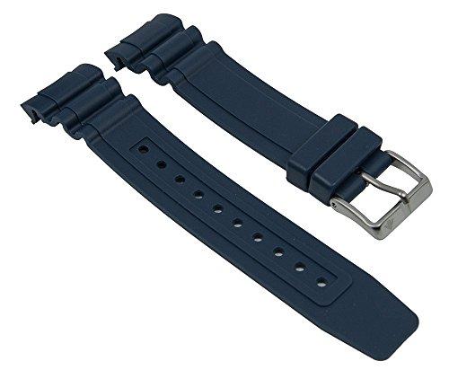 Ersatzband Uhrenarmband Kunststoff Gummi Band dunkelblau passend zu Citizen Promaster Taucheruhr BN0100 28141