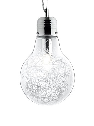 Ideal Lux Luce Max SP1 Lampada, Small, Alluminio, metallo