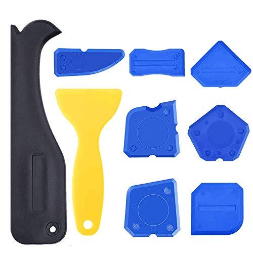 9 Pieces Caulk Tool Kit Sealant Silicone Finishing Tools Caulking Tools for Silicone Sealant Grout Finishing Sealing