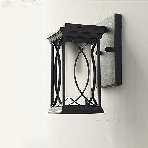 LGOO1 Lámparas de Pared de Patio Barroco rústico, Industrial Vintage Linterna de Pared Exterior Retro Patio Creativo Paisaje Luz de Pared Pasillo Porche Doorwa Jardín E27 Iluminación de decoración
