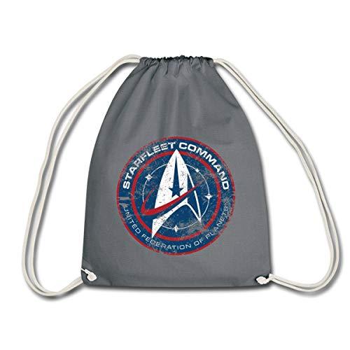 Spreadshirt Star Trek Discovery Abzeichen Sternenflotte Turnbeutel, Grau