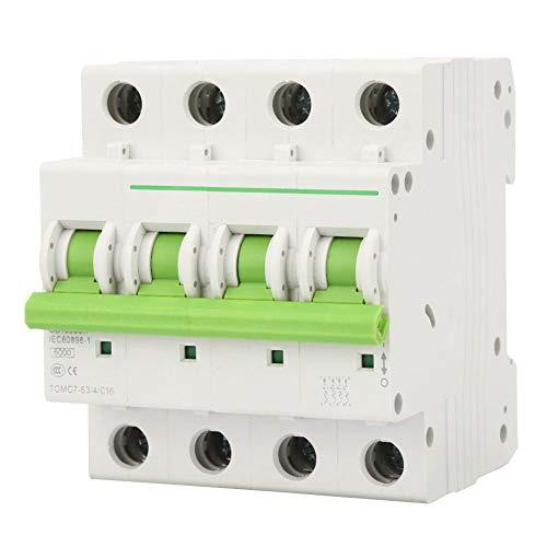 Interruttori Magnetotermici AC 380 V/ 415 V Interruttore Automatico a 4 Poli/Interruttore di Dispersione/C-type 6KA Interruttori Miniaturizzati (16A)