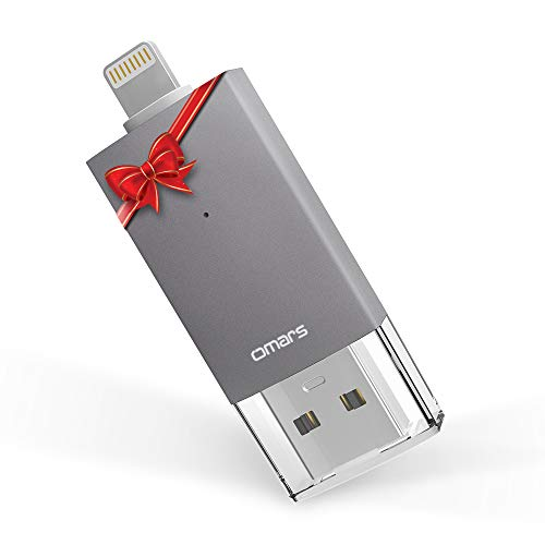 [Apple MFi Zertifiziert] OMARS® Irisation Lightning USB Stick 64GB Flash Speichererweiterung für Apple iPhone iPod iPad Computer Mac Laptop PC