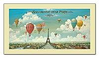 ポスター アイシャ/ベンジャミン Ballooning over Paris