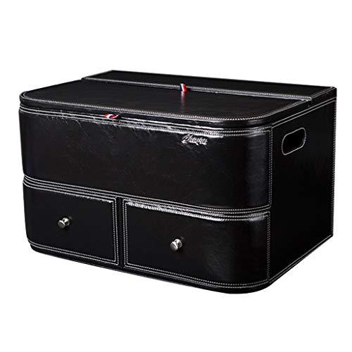 Coffre de Voiture Organisateur Boîte de Rangement en Cuir pour Voiture Boîte de Rangement Multifonction Boîte de Rangement intérieur Boîte de Rangement Boîte de Rangement pour Voiture