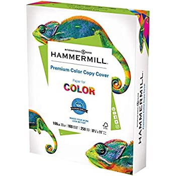 Hammermill Cardstock, 100 lb, 271 GSM, Premium Color Copy, 8.5x11-1 Pack (250 Sheets) - 100 Bright, Made In The USA Card Stock