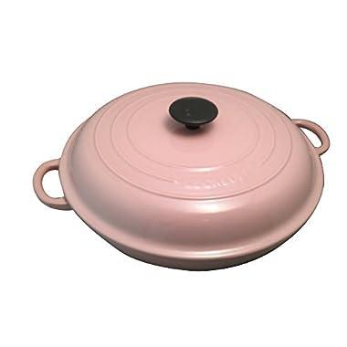 Le Creuset Signature Enameled Cast-Iron 3-1/2-Quart Round Braiser (3.5 qt, Chiffon Pink)