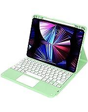 REXFS for iPad Mini 6キーボードケース2021、タッチパッド付きスリムシェルカバー、8.3インチiPadMini第6世代用の磁気的に取り外し可能なBluetoothワイヤレスキーボード (Green)