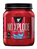 BSN Nutrition N.O.-Xplode Pre Workout Powder with Creatine Monohydrate, Beta Alanine, Caffeine, Vitamin D and Vitamin B Complex, Blue Raspberry, 50 Servings, 1 kg