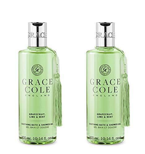 Grace Cole Grapefruit, Lime & Mint Bath & Shower Gel 2 x 300ml