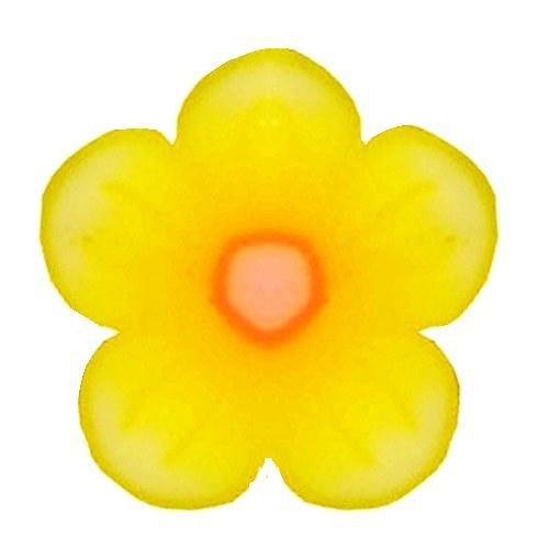 km-nails Lot de fimo fleur jaune structuré