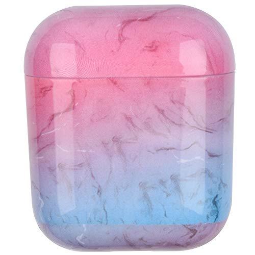 SHUOHAO para Aipords 2/1 Caso de mármol de mármol, Caja de Auriculares y Cubierta de Caja de PC Duro AIPR ODS Auricular Caja de Carga Caja Protectora (Color : DLS 04)