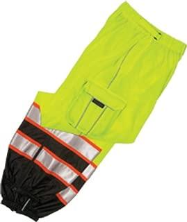ML Kishigo 3118 Polyester Brilliant Series Mesh Pant, Fits 2X-Large to 4X-Large, Lime