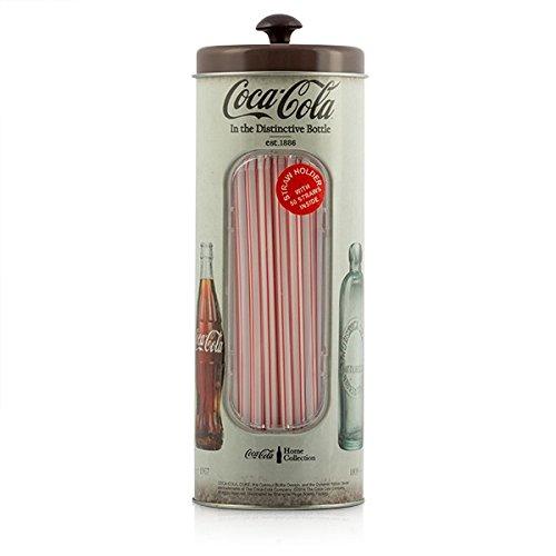 Eurowebb Outlet caja Vintage Coca-Cola para pajitas (sin embalaje) – Déco vintage Almacenamiento