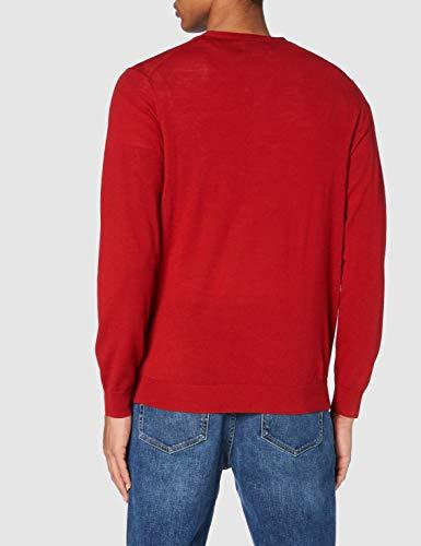 Navy Denim Blu XXL Marchio Label: XXL MERAKI Maglione in Cotone con Collo Sciallato Uomo