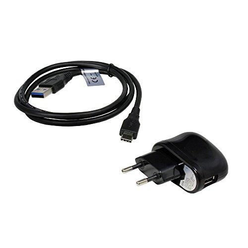Cargador de Red y Cable Micro USB para Motorola Edge S, USB-C 3.0, 2100mA