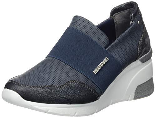 MUSTANG Damen 1303-401-820 Slip On Sneaker, Blau (Navy 820), 41 EU