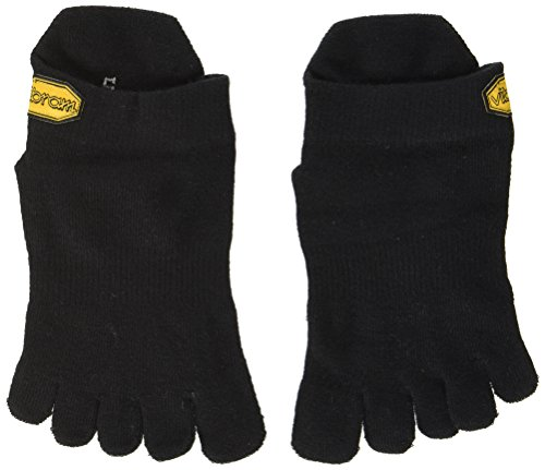 Vibram FiveFingers Herren Athletic No Show Socks, Black, XL