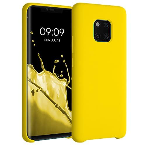 kwmobile Carcasa Compatible con Huawei Mate 20 Pro - Funda de Silicona para móvil - Cover Trasero en amarilo Brillante