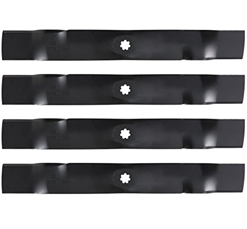 4PK Lawn Mower Blades Replacement for John Deere 42 GX22151 GY20850 D100 D105 D110 D120 D130 LA100 LA105 LA110 LA115 LA120 LA125 LA135