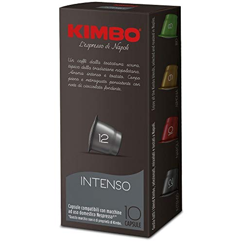 Kimbo Intenso -Intensität 12- Nespresso®* kompatible Kapseln, (100 Kapseln)
