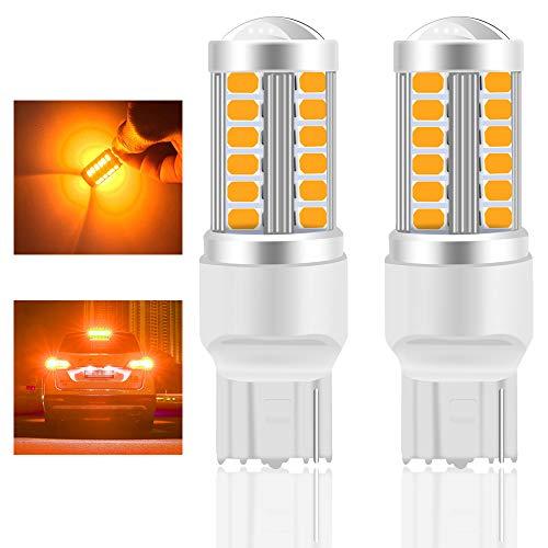 Teguangmei 7440 T20 7440NA 7441 992 Lampadina LED per Auto Ambra 900LM Lampadina LED Super Luminosi 5730 33-SMD Utilizzata per Indicatori di Direzione Anteriori e Posteriori per Auto 12-30V 3.6W- 2Pcs