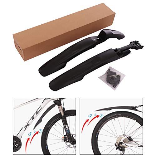 Auplew Guardabarros de Bicicleta Juego de Guardabarros Ajustable Protector de Salpicaduras para Delantero/Trasero, Universal, para Bicicletas