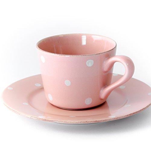 Gedeck/Kaffee/Tee 2-teilig/Ober- und Untertasse Chitra, rosa, 0,20 l
