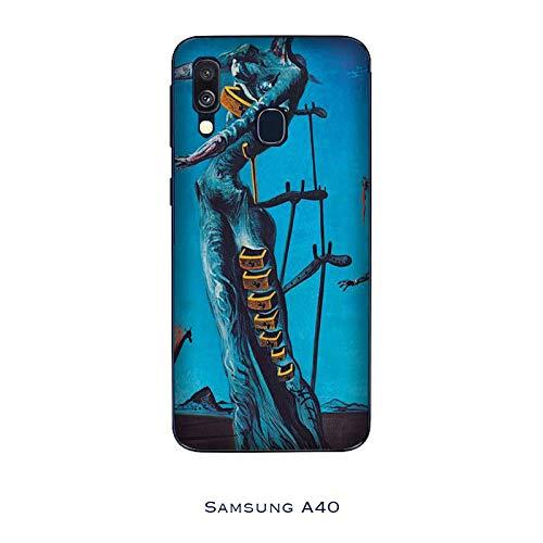 Generico Cover Samsung Galaxy A40 Salvador Dalì LA Giraffa in Fiamme/Custodia Stampa Anche sui Lati/Case Anticaduta Antiscivolo AntiGraffio Antiurto Protettiva Rigida