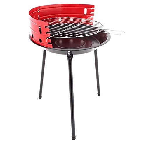 Barbecue Grill im Freien Holzkohlegrill dicken Edelstahl Haushalt Folding bewegliches Picknick Cooker (Size : 36x36x52cm)