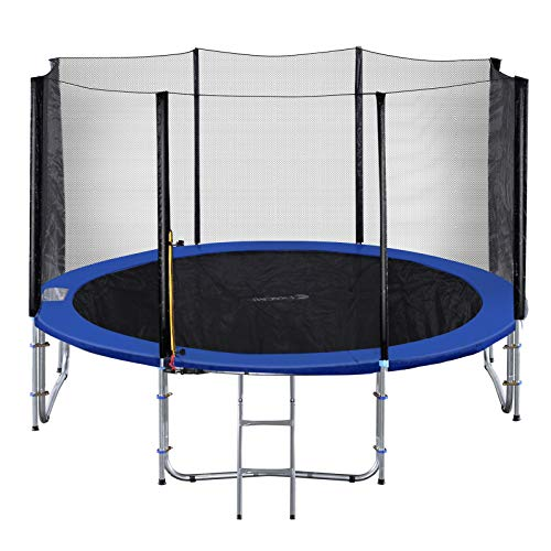 Exacme 10 Foot Heavy Duty Trampoline with Enclosure Net, Safety Pad...