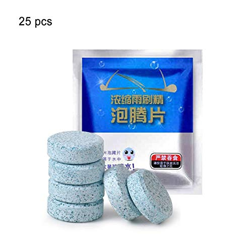 ShenyKanny Effervescent Tablets for Auto Windshield Glas Clean Washer Tablets Detergent Car Window Cleaner 7 Tablets