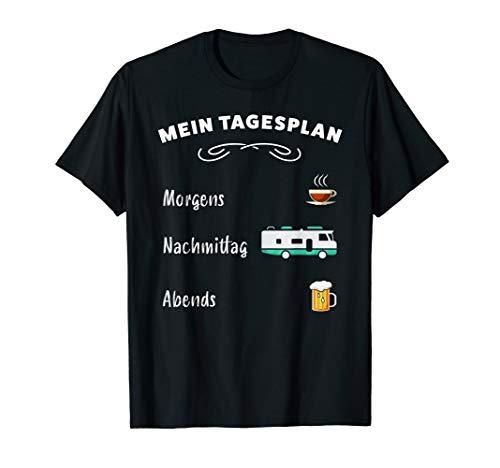 Mein Tagesplan: Kaffee, Wohnmobil & Bier (lustiges Geschenk) T-Shirt