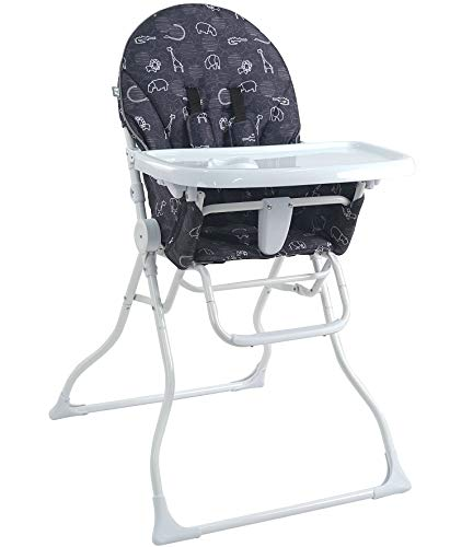 Check Out This Pamo Babe Portable Fold High Chair (Black&White)