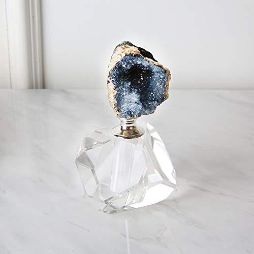 XCDM Botella de Perfume Vintage geométrica de Cristal Decorativa Capacidad de 5 ml con Varilla de Vidrio Se Puede Rellenar Adornos Decorativos Boda de Las Mujeres B