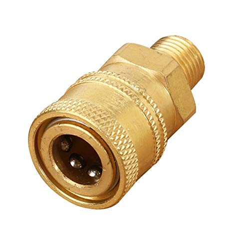 1PC 1/10,2 cm mâle (Mnpt) haute pression Laiton Quick Connect Coupler convertisseur adaptateur de filetage pour tuyau d'alimentation Rondelles 45 mm