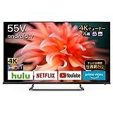 TCL 55V型 4K液晶テレビ 55P815 スマートテレビ(Android TV) ネット動画サービス対応 4Kチューナー内蔵 Dolby Atmos 2020年モデル ブラック
