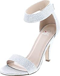 Prom high heels with ankle strap