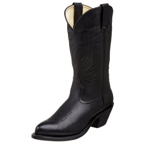 Cowboy boot with a riding heel