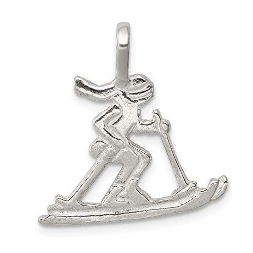 Anhänger Sterlingsilber Skifahrer - JewelryWeb