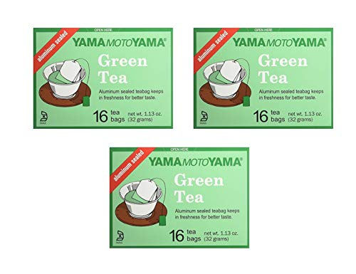 Yamamotoyama Green Tea (3 Pack, Total of 3.36oz)