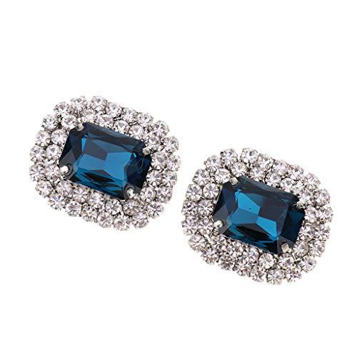 F Fityle Clips de Zapatos con Diamantes de Imitación para Mujer, Hebilla...