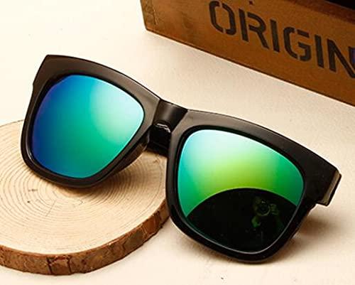 Único Gafas de Sol Sunglasses Gafas De Sol Cuadradas De Gran Tamaño Vintage para Mujer, Gafas De Sol con Montura Negra R